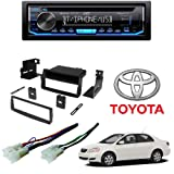KD-TD70BT Single DIN Bluetooth in-Dash CD/AM/FM/Digital Media Car Stereo Receiver CAR Radio Stereo CD Player Dash Install MOUNTING KIT Harness for Toyota Corolla 2003-2008