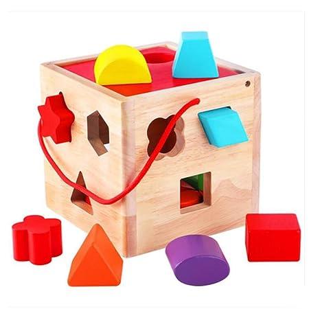 Jouets d'enfants blocs de construction,Sagesse / Jouets éducatifs Boîte de renseignement forme en Bois pour Enfant Eductional Toys for Kids Children