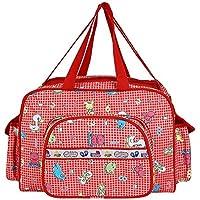 Littly Designer Multipurpose Diaper Bag/Mother Bag (Large), Red