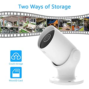Outdoor Security Camera AKASO Wifi IP Camera,Work with Alexa