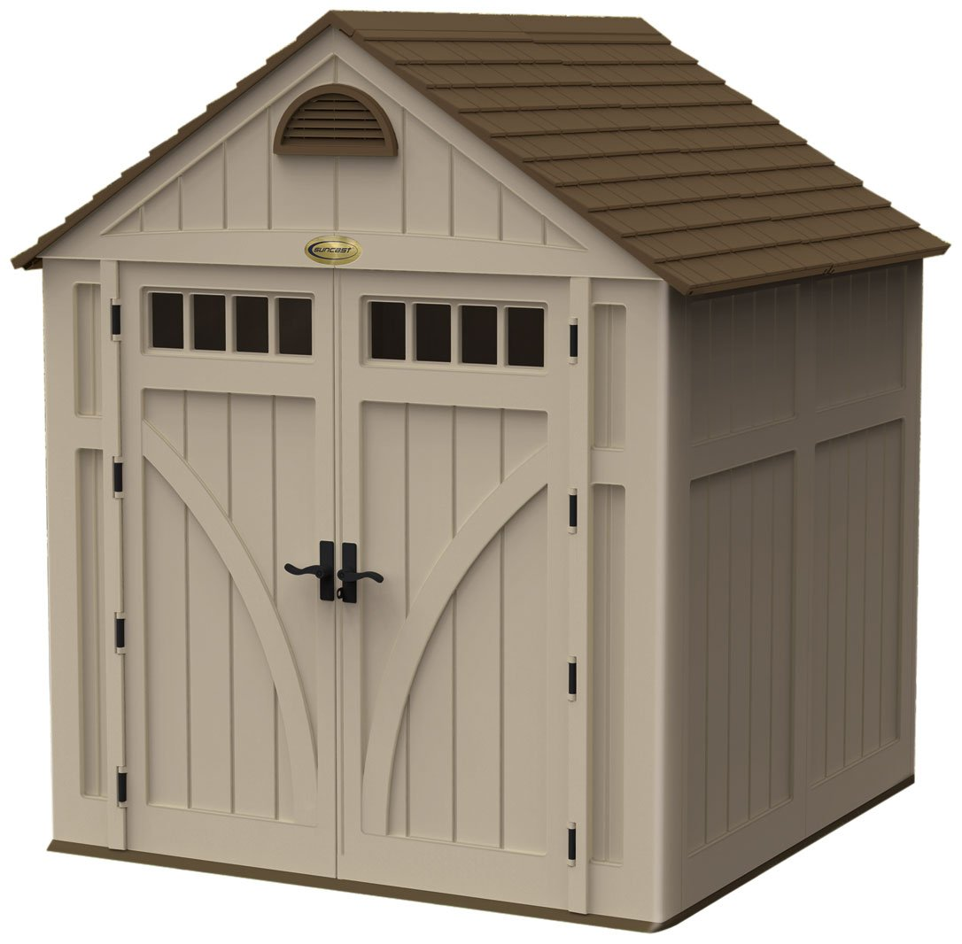 Suncast 7-Foot by 7-Foot Blowmolded Shed bix h48 foot intravenous injection model wbw116