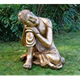 Gold Sleeping Deity Buddha Statue - Large Garden Ornaments