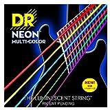 DR エレキ セット弦 2セットパック NEON ニッケルプレート コーテッド ミディアム 10-46 NMCE-2/10 マルチカラー