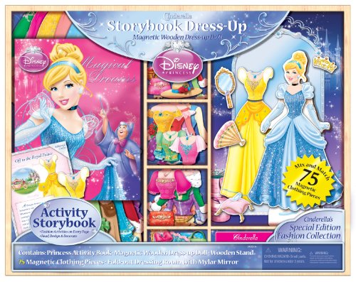 Artistic Studios Ltd. Artistic Studios Disney Princess Storybook Dress Up Magnetic Wooden Doll Set, 75-Piece at Sears.com