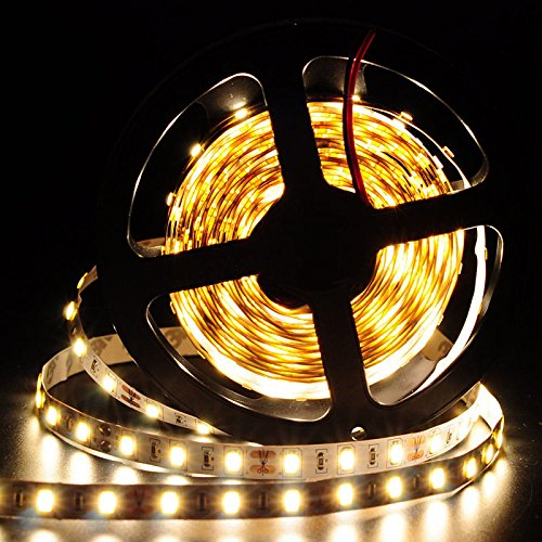 Happy Hours® Hot Sale Warm White Led Ultra Bright 5M 16.4Ft Smd 5630 300 Led Flexible Strip Light 12V Brighter Than 5050 For Decoration Tv Wall Music Stage Wedding Birthday Festival Party Non-Waterproof