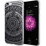 iPhone 6S Case, Cimo [Henna] Apple iPhone 6S Case Clear Design Floral Flower Pattern Premium ULTRA SLIM Hard Cover for Apple iPhone 6S / 6 - Black