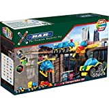 ClickBlock X-Bar Premium Magnetic Construction Toy Complete Transportation Set, 55 Piece