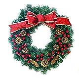 AIHOME クリスマスオーナメント クリスマス 飾り クリスマスリース 玄関 ドア 窓 インテリアの飾り 華やか おしゃれ 可愛い (レッド ゴールド)