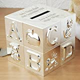 Best Christening Gifts - Personalised Engraved ABC Money Box Great Christening Birthday Review