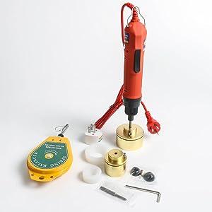 ZONEPACK Manual Electric Bottle Capping Machine Handheld Cap Sealer Sealing Machine 10 - 50mm Capping Diameter Bottle Capper Sealer Screwing Sealing Machine (110V)