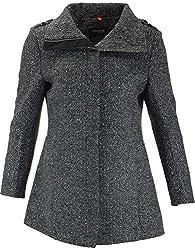 Panache Women's Slim Fit Coat (M004 _ X-Large, Greyish Black)