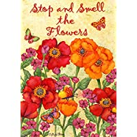 Stop & Smell the Flowers House Flag