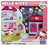 Mega Bloks 10824 Hello Kitty Flower Shop 68pc Character Building Set