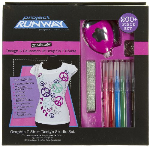 Project Runway Graphic T-Shirt Design Studio Set (T-Shirt NOT INCLUDED)