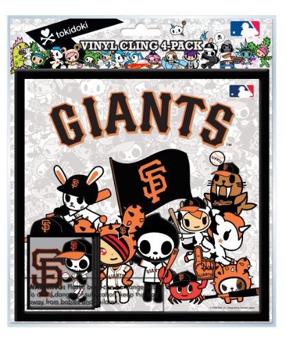National Design TokiDoki San Francisco Giants Vinyl Cling (4-Pack)