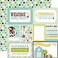 Echo Park Bundle of Joy 2 Welcome Baby Boy Baby Scrapbook Paper