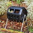 YIMBY IM4000 Dual Chamber Tumbling Composter, Black