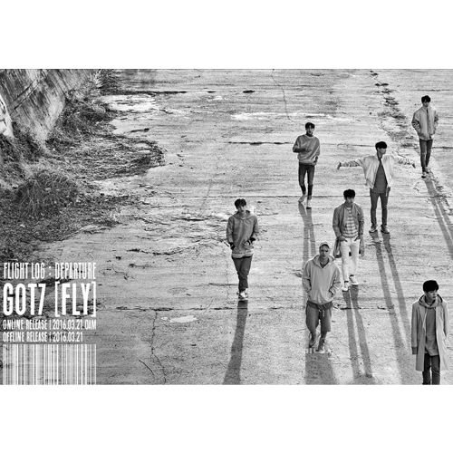 GOT7 - [Flight Log : DEPARTURE] 5th Mini Album Serenity Ver. CD, 100p Photo Booklet, Photo Card, Photo Ticket and Departure Card (Ticket Booklet compare prices)