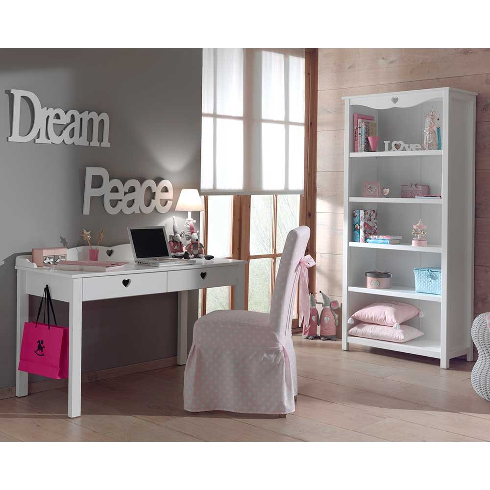 Jugendzimmermöbel in Weiß Herzen (2-teilig) Pharao24