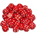 Pegasus Spiele 23600206 - 12mm-W�rfel, Opaque: Rot, 36er-Set in Acrylbox