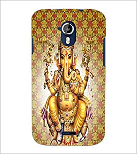 PrintDhaba Lord Ganesha D-4730 Back Case Cover for MICROMAX A116 CANVAS HD (Multi-Coloured)