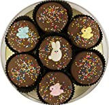 Milk Chocolate Dipped Oreo Cookies with Easter Bunny Rabbit Easter Eggs -Easter Gift