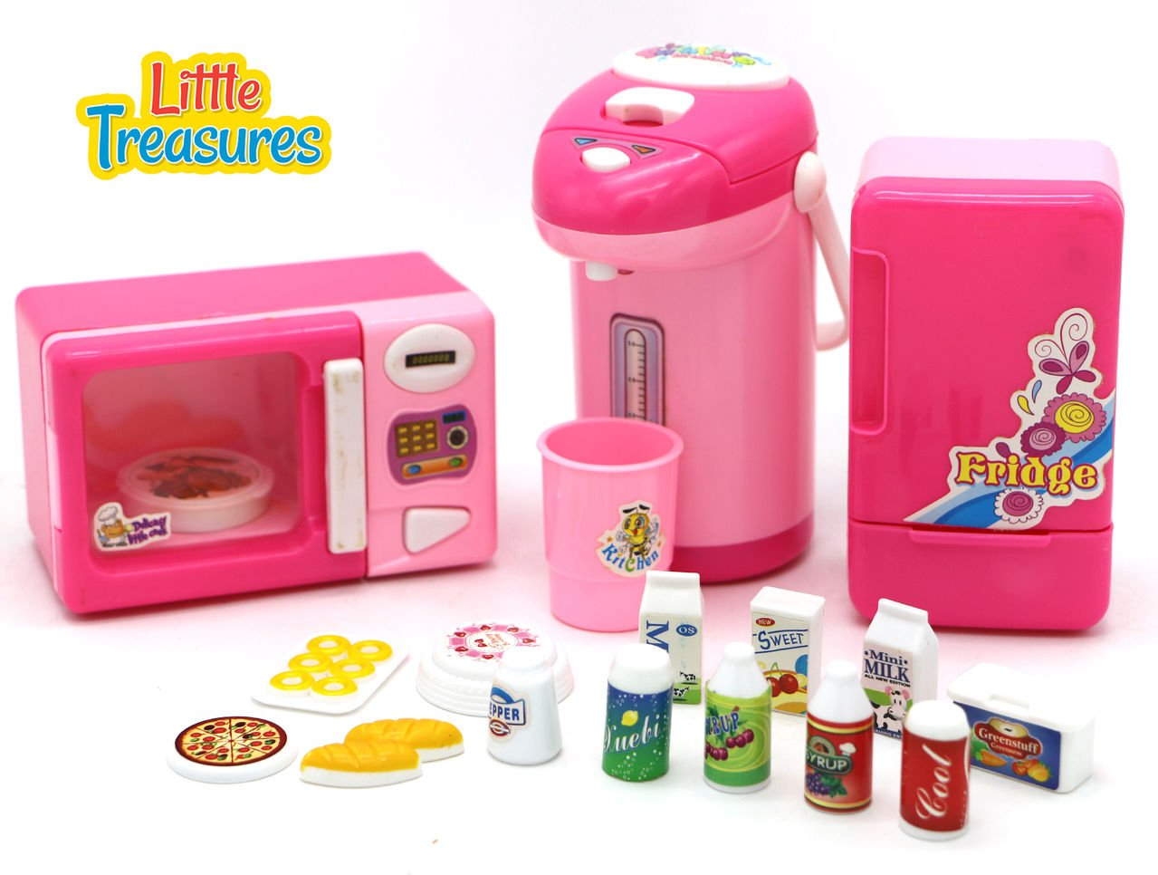 Little treasures mini kitchen appliance cooking toy play for Mini kitchen playset