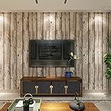 (ハンメロ)Hanmeroリピング 部屋 diy リフォーム用 木目調 はがせる ビニール壁紙 のりなし 53cm×10m 自然木材のホワイト