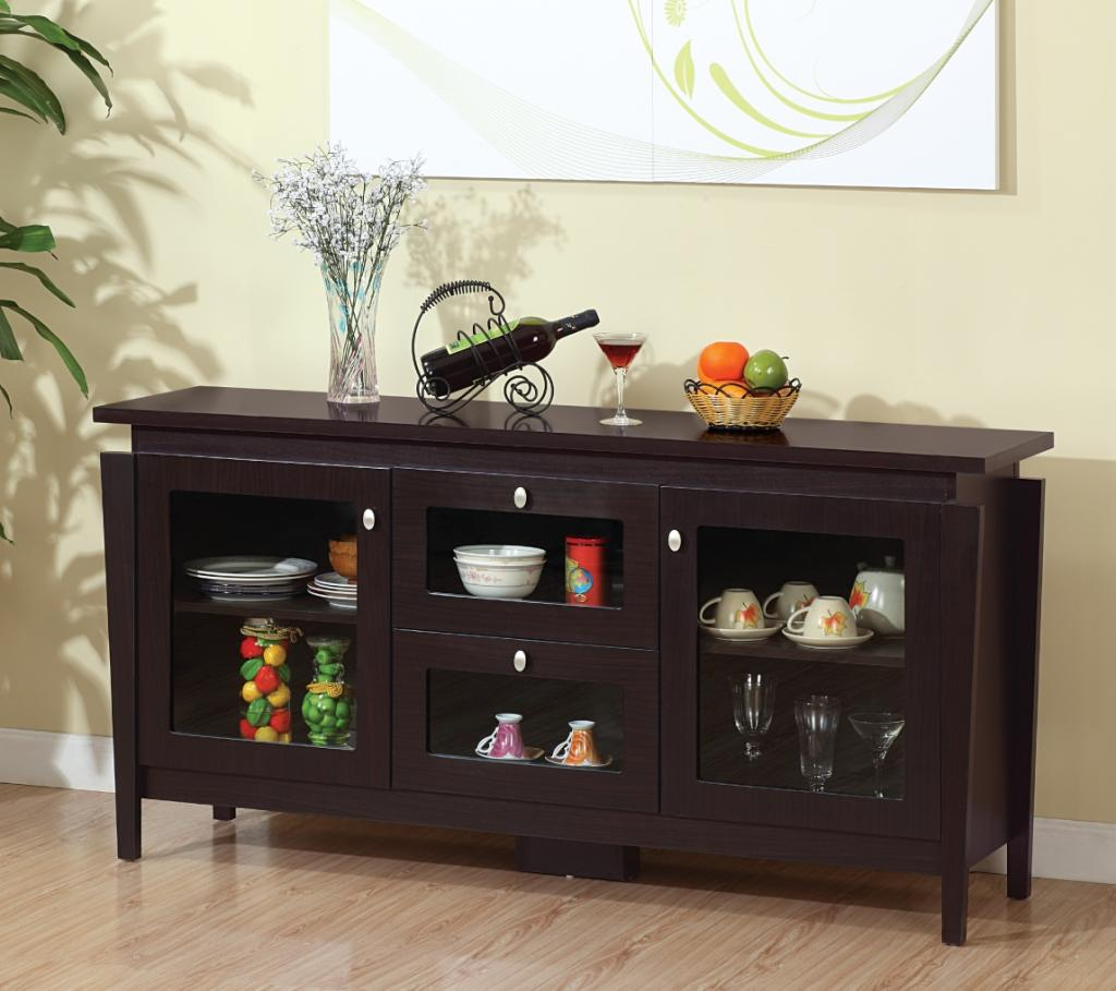 Furniture of america cedric modern buffet for Furniture of america alton modern multi storage buffet espresso