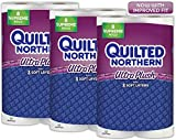 Quilted Northern  Ultra Plush Supreme Toilet Paper, 24 Supreme Rolls (Three 8-roll packages), Equivalent to 92+ Regular Rolls
