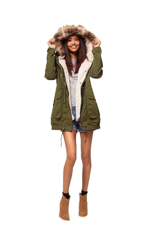 rezension damen fleece winter mantel zip kapuzen parka mantel lange jacke wie erwartet damen. Black Bedroom Furniture Sets. Home Design Ideas