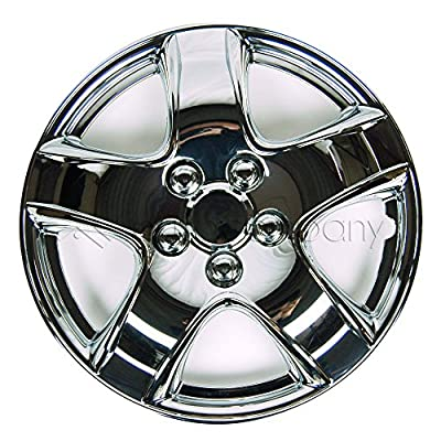 "Chrome 14"" Hub Caps Full Wheel Rim Covers w/Steel Clips (Set of 4) - KT-998-14"