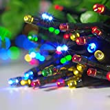 ZITRADES 100 LED RGB Solar String Fairy Muti-Color Lights 55ft Outdoor Garden Xmas and Party By ZITRADES