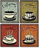 "Retro Coffee Set by N. Harbick 8""x10"" Art Print Poster"