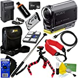 Sony HDR-AS20 Action Video Camera with Wi-Fi, NFC & Full HD 1080p Video (International Version) + NP-BX1 Battery & AC/DC Charger + 10pc 32GB Dlx Accessory Kit w/ HeroFiber Cleaning Cloth
