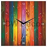 Creative Width Rainbow Shades 1 Wall Clock - Multicolur