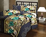 Snoopy Double Bed Sea Blue Floral Pattern Comforter, Quilt (250 GSM)