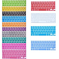 Bundle of 14 Semi Transparent Colorful Keyboard Silicone Cover Skin Protector for Macbook 13