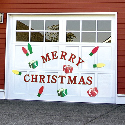 Christmas Garage Door Decals  Import It All ~ 042629_Christmas Decorating Ideas For Garage Doors