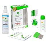 Lice Treatment Kit + Daily Prevention Conditioning Spray by Lice Clinics – Cure & Repel Lice with Complete Kit…