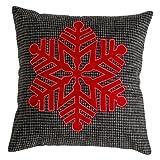 Shiraleah Snowflake Pillow, Grey
