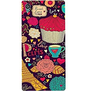 Casotec Paris Flower Love Design Hard Back Case Cover for Sony Xperia Z5 Dual