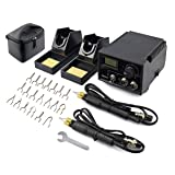 TEKCHIC 60W Wood Burning Kit with 20 Wire Nibs Tips Including Ball Tips(with Case) (Tamaño: Dual Woodburner)