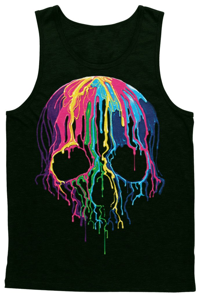 Unisex Rainbow Colorful Skull Tank