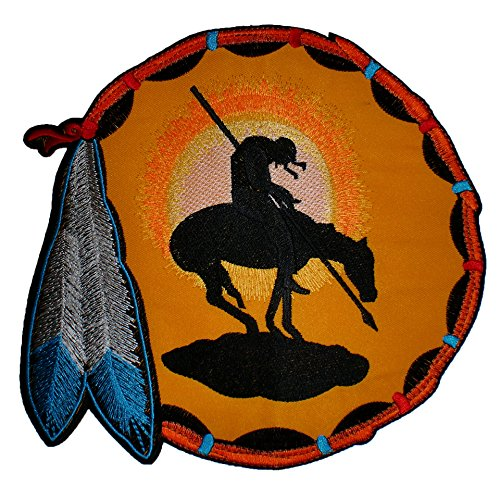 End of Trail Dreamcatcher Indian American Iron on Back Patch
