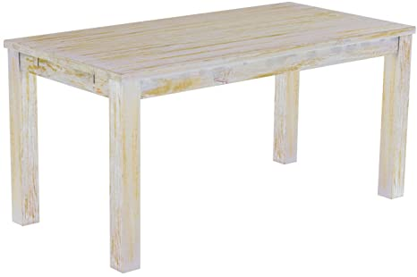 Brasil 'Rio' 180x 80cm Solid Pine Wood–Shabby Chic Furniture Dining Table Honey
