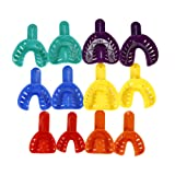 12pcs Dental Impression Trays Plastic Materials Teeth Holder Dental Central Supply For Oral Tools