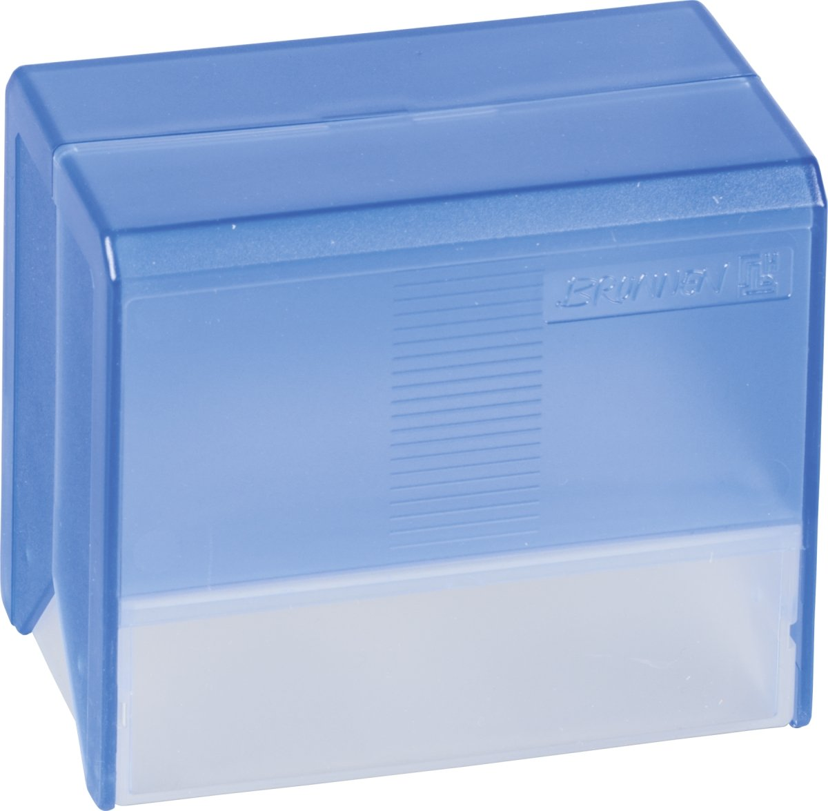Brunnen Styrolux Index Card Box with approx. 250 Cards A7 Medium Blue mead plain index card