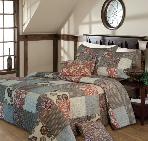 Greenland Home Fashions Stella Bedspread Set, King