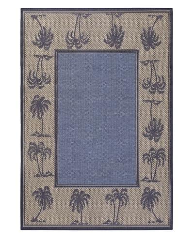 Chandra Plaza Indoor/Outdoor Rug, Blue/Beige, 7' 9 x 11' 2